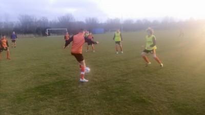 warming up S&F O15 tegen Sparta